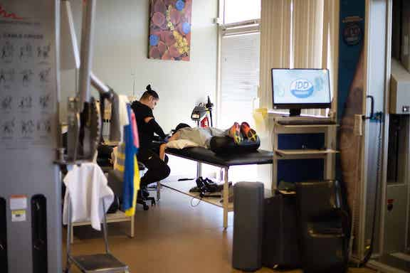 patient receiving physical therapy treatment at Pain Care of San Diego